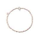 Mini Granelli Bracelet - 9k Rose Gold, Silver, Steel