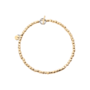 Mini Granelli Bracelet - 18k Yellow Gold, Steel