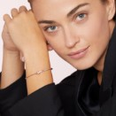 Bangle Essentials Avec Stoppeur - Or Rose 9k, Diamants Cognacs