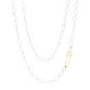Essentials Necklace - Silver, 18k Yellow Gold