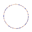 Mini Granelli Necklace - 9k Rose Gold, Blue Ceramics, Steel