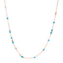 Collier Mini Granelli - Or Rose 9k, Céramique Bleue