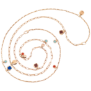 Bazaar Necklace - 18k Rose Gold Plated Silver, Enamel